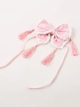 Qi Lolita Pink Headwear Chinese Style Headwear