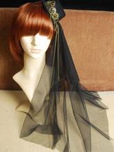 lolita coiffure steampunk bicolore Tea party ornement métallique noire Coiffure  Déguisements Halloween