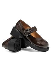 Classic Lolita Footwear Square Toe Buckle Puppy Heel Brown Lolita Shoes