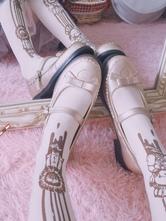 Sweet Lolita Pumps Bowknot Round Toe PU Puppy Heel Lolita Shoes
