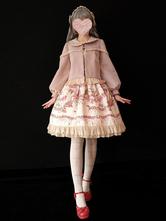 Lolita Vêtement avec noeud automne Manteaux Top col Peter Pan en cachemire unicolore quotidienne classique