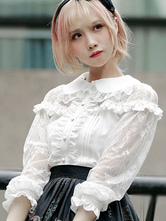 Sweet Lolita Blouse Lace Frill Lolita Top
