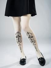 Collants lolita gothique Cross Print velours Lolita collants
