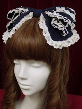 Sweet Lolita Headdress Lace Trim Two Tone Chiffon Lolita Hair Accessory