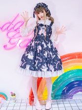 Sweet Lolita Jumper Jupe Jsk Banana Bunny Light Sweet Lolita Dress