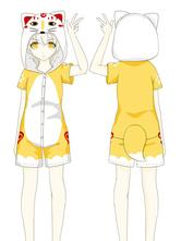Touken Ranbu Kawaii Fox Cosplay Kigurumi Pajamas