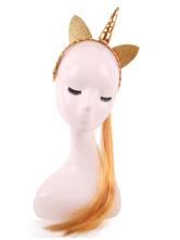 Disfraz Carnaval Peluca de disfraz de unicornio Pelucas de cabello sintético Accesorios para disfraces de Halloween