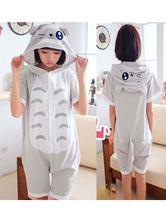 Totoro Kigurumi Pajamas Onesie Light Grey Short Summer Animal Sleepwear For Adults onesie pajamas