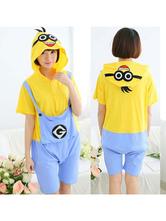 Kigurumi Pijamas Minions Onesie Amarelo Macacões Curtos Summer Animal Pijamas Para Adultos