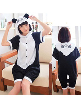 Panda Kigurumi Carnaval Pyjamas Onesie Noir Combinaisons courtes D'été Animaux Vêtements De Nuit Pour Adultes Déguisements Halloween
