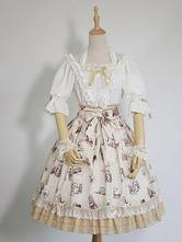 Doce Lolita Blusa Pequeno Príncipe Rendas Trim Ruffle Arco Chiffon Lolita Top