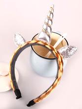 Unicorn Costume Headband Gold Woven Glitter Halloween Party Gift