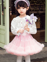 Sweet Lolita Shirt Lace Trim Ruffle White Toddler\'s Lolita Blouse