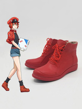 Cells At Work Erythrocyte Red Blood Cell Halloween Cosplay Shoes