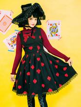Classic Lolita JSK Dress Queen Of Hearts Embroidery Cashmere Lolita Jumper Skirt