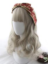 Sweet Lolita Wig Blunt Bang Body Wave Champagne Lolita Hair Wig