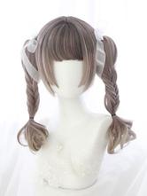 Sweet Lolita Wig Blunt Bang Hime Cut Natural Wave Ombre Lolita Hair Wig