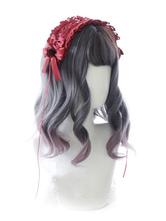 Sweet Lolita Wig Blunt Bang Body Wave Ombre Long Lolita Hair Wig