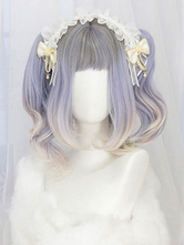 Sweet Lolita Wig Blunt Bang Natural Wave Ombre Lolita Hair Wig
