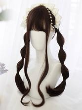 Sweet Lolita Wig Blunt Fringe Straight Burgundy Long Lolita Hair Wig