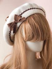 Sweet Lolita Hat Bow Pom Pom Wool Lolita Beret