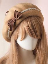 Sweet Lolita Hat Wool Bow Pom Pom Lolita Beret
