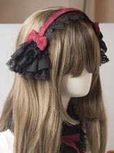 Gothic Lolita Headdress Lace Bow Two Tone Lolita Hair Accessory
