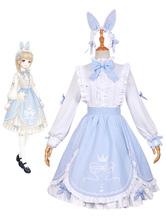 Love Nikki Nikki Cosplay Game Anime Gilr Princess Lolita Dress Rabbit Version Halloween