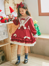 Classic Lolita OP Dress Lace Bow Ruffle Toddlers' Lolita One Piece Dress