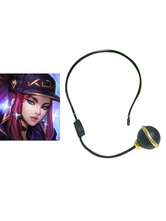 Carnevale League Of Legends Ahri LOL KDA Akali 2021 Accessorio per Cosplay Mic Cosplay per Cuffie di Carnevale