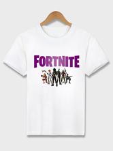 Fasching Fortnite Battle Royale T-Shirt aus Baumwolle Herren Weißes T-Shirt für Männer Fasching Faschingskostüme