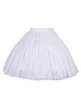 Classic Lolita Petticoats Chiffon Lace Bottom White Lolita Skirt