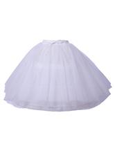 Classic Lolita Petticoats Tulle Drawstring White  Lolita Skirt