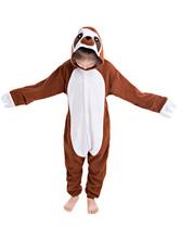Kids Kigurumi Sloth Onesie Easy Toilet Winter Sleepwear Mascot Animal Costume Onesie