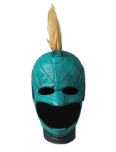 Captain Marvel Film Cosplay Carol Danvers PU Blue Green Cosplay Helmet Halloween