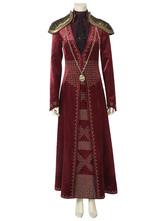 Carnaval Carnaval Drama de televisión temporada de juego de tronos 8 Disfraz de GOT Cersei Lannister Cosplay rojo 2021 Carnaval
