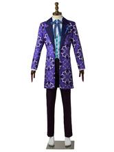 Halloween Disfraz Carnaval A3! Trajes de cosplay de color morado oscuro Mikage Hisoka Uniforme traje de tela Carnaval