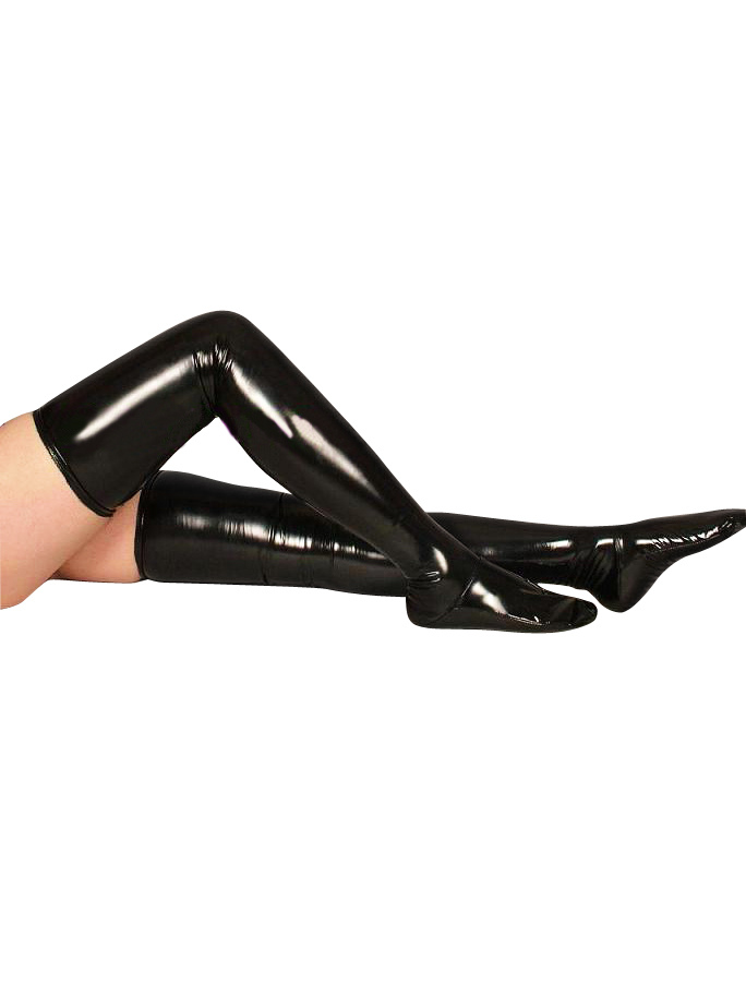 PVC Black Long Stockings For Halloween Halloween
