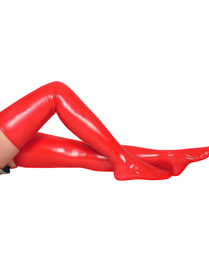 Halloween PVC Red Long Stockings Halloween