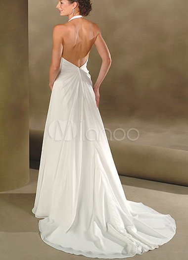 euro estilo vestido de gasa con cuello en v vestido de corte imperio