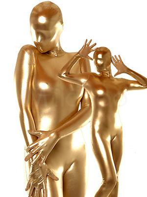 Halloween Gold Shiny Unisex Zentai Suit Costume
