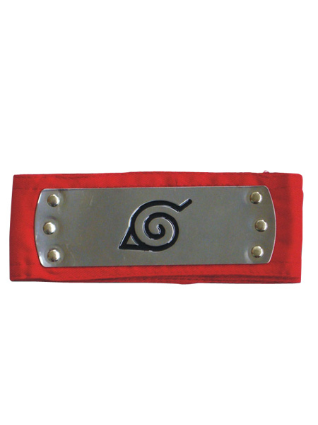 Buy Naruto Ninja Leaf Village Headband Red Cosplay Halloween for $3.59 in Milanoo store