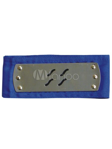 Buy Naruto Zabuza Haku Ninja Mist Village HeadBand Blue Halloween for $3.67 in Milanoo store