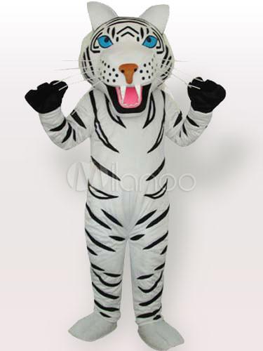 Tigre Blanco Negro Con Rayas Adultos Mascotas Traje De Tipo A