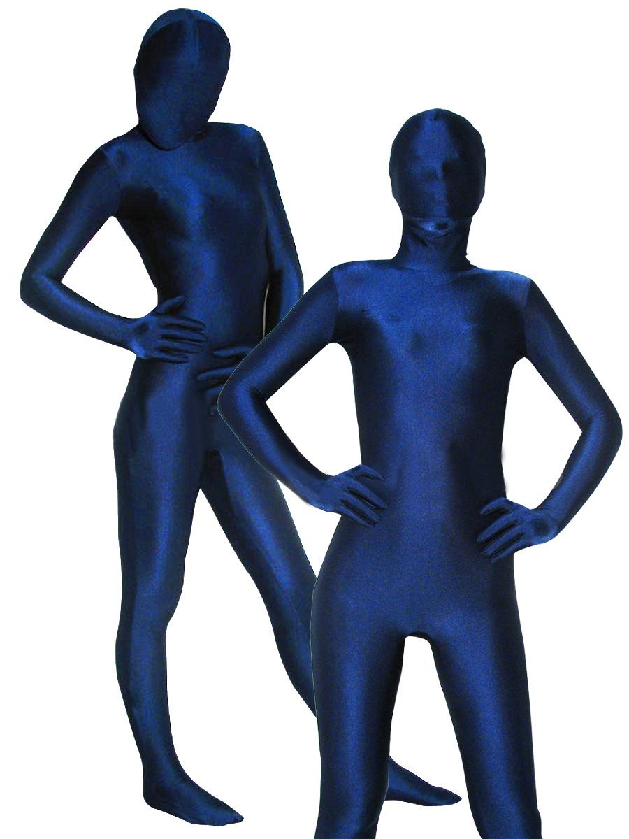 Halloween Spandex Zentai Lycra Blue Full Bodysuits Halloween
