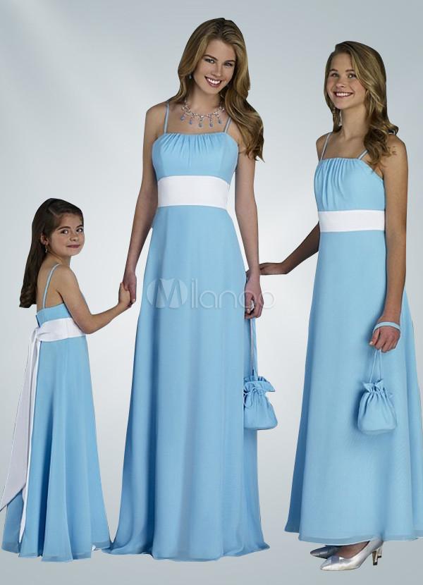 Vestidos para damas de honor color celeste