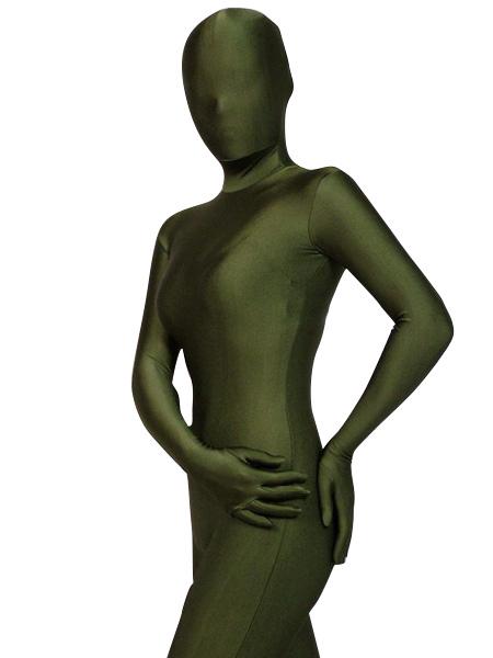 Halloween Zentai Suits Hunter Green Spandex Bodysuit Halloween