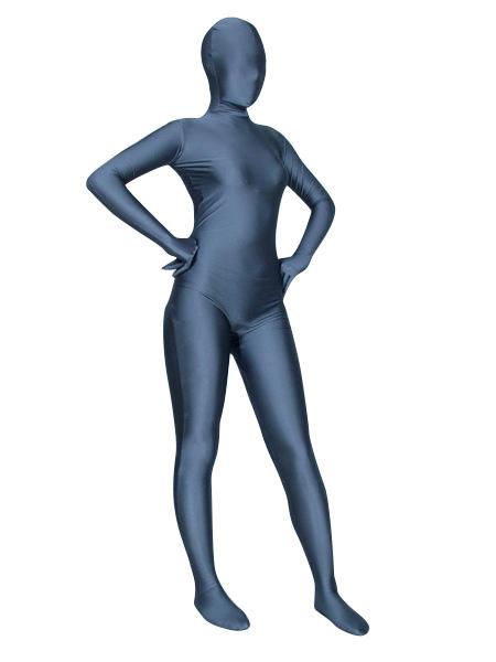 Halloween Deep Blue Zentai Bodysuit Spandex Lycra Unisex Unicolor Costume Morphsuits Halloween