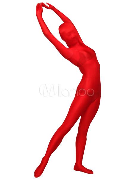 Lycra Spandex Zentai Suit Red Halloween Costume Cosplay Morphsuits Halloween