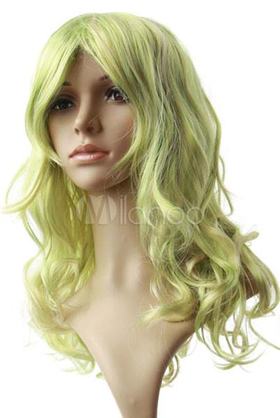 Women s 80cm Light Green Long Curly Cosplay Wig - Milanoo.com 00610689ae